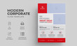 Corporate Flyer Template with red color