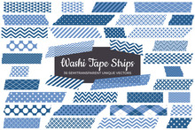 Classic Blue Washi Tape Strips...