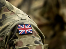 Flag Of United Kingdom On Mili...
