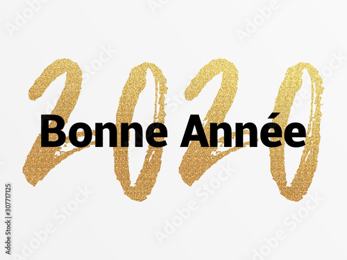 Obraz 2020 - Bonne année - happy new year - fototapety do salonu