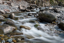 Long Exposure Of The River Flo...