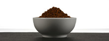 Cup Of Instant Coffee Isolated...