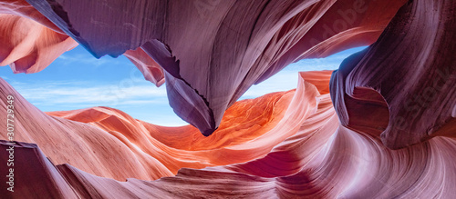 Foto Panoramic Abstract background Canyon Antelope near Page, Arizona, America