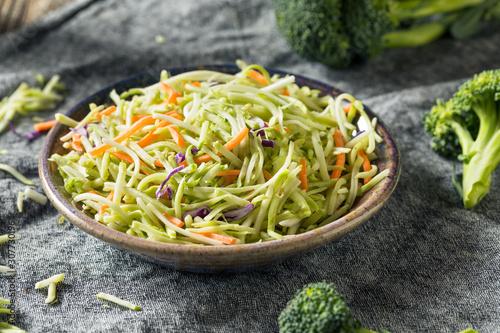 Raw Organic Shredded Broccoli Slaw Canvas Print