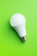canvas print picture - Energy saving light bulb. LED light bulb.