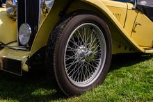 Classic Antique Car In Cream W...