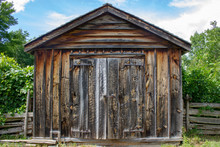 Small Old Wooden Farmer Barn S...