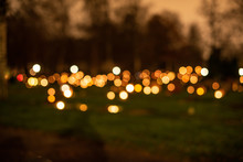 Out Of Focus Lights At A Grave...