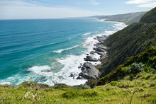 Scenic Lookout In The Great Ocean Road, An Iconic Australian Destination.