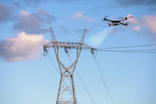 Drone Inspecting Electricity P...