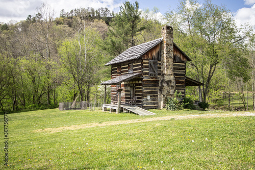 Fotografia, Obraz Kentucky Historical Log Cabin