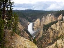 A Waterfall In Yellowstone Nat...