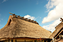 Old Traditional Japanese House With Thatched Roof In Tanba-sasayama City, Hyogo Prefecture, Japan