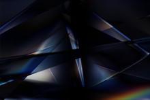 クールなガラス質感のメタリックなアブストラクト