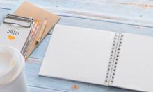 White Binder Blank Notebook Or...