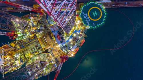 aerial-view-offshore-jack-up-rig-at-night-offshore-oil-rig-drilling-platform