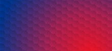 Bright Geometric Hexagons Abstract Technology Graphic Design. Red Blue Modern Futuristic Background. Vector Illustration