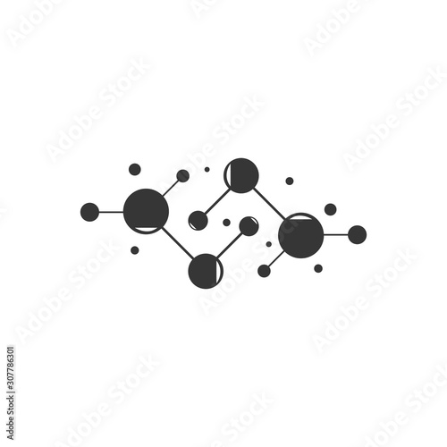 Molecule vector icon illustration design Wallpaper Mural