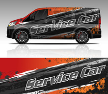 Car Wrap Decal Van Design Vector, For Advertising Or Custom Livery WRC Style, Race Rally Car Vehicle Sticker And Tinting Custom. Toyota Hiace.