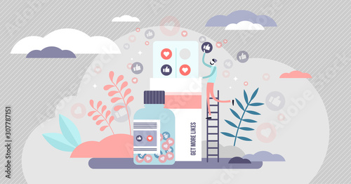 Photo Like pill vector illustration