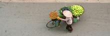 Aerial View Of Street Vendor W...