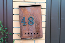 Old Mailbox With Number 48