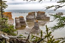 Monolithe Auf Der Ile Quarry Im Mingan Archipel, Quebec, Kanada