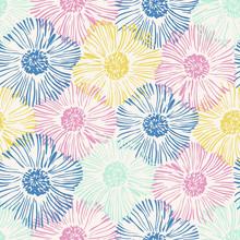 Hand Drawn Flowers Background ...