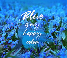 Blue Is My Happy Color - Text ...