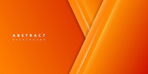 Abstract 3d orange background with blank space of paper layer