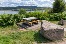 A Picnic Table At The Dry Will...