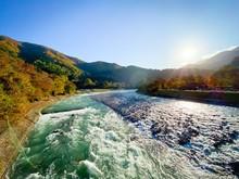 Sho River In Autumn At Shiraka...