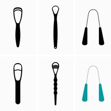 Set Of Tongue Scrapper Cleaners, Oral Hygiene Device