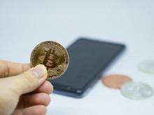 Bitcoin Holder With Phone