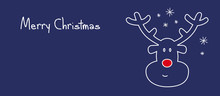 Merry Christmas Reindeer Banner