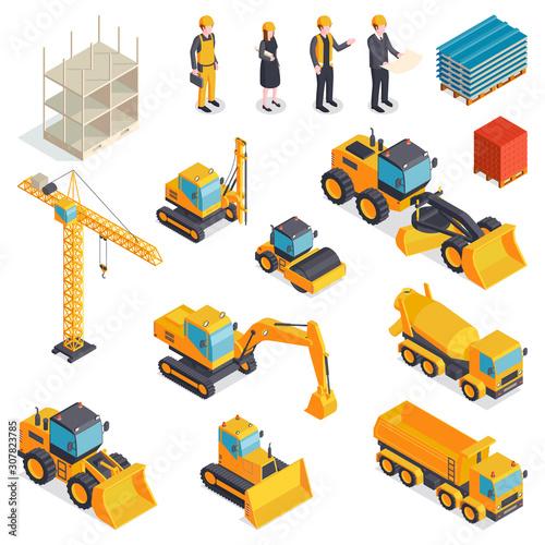 Valokuva Isometric Building Equipment Set