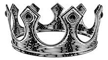 A Royal Kings Crown In A Vinta...