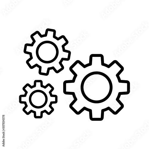 Obraz opcje ikona koła zębate - fototapety do salonu