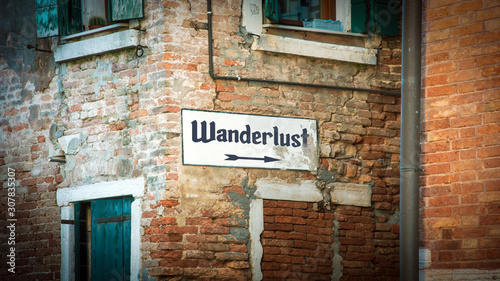 Photo Street Sign to Wanderlust