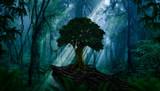 Fototapeta Fototapety z naturą - Deep tropical jungle in darkness