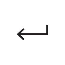 Arrow Enter Left Icon Vector I...