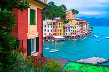 Landscape View Of Portofino Fa...