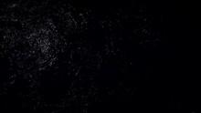 Water Flowing In The Dark Looking Like TV Noise
