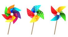 Colorful Pinwheel Set For Part...