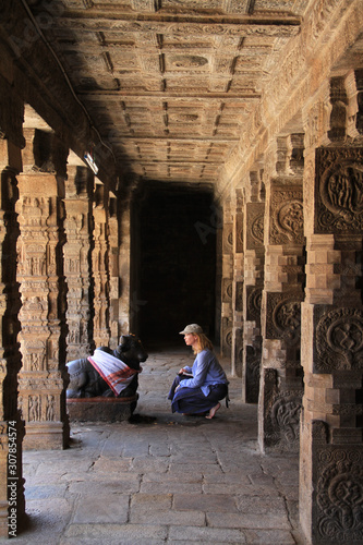 woman in indian temple