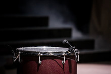 Musical Drums On Stage Under ...