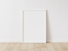 Vertical White Frame Mock Up. ...