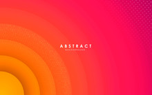 Abstract Circle Modern Background Gradient Color. Yellow And Pink Gradient With Halftone Decoration.