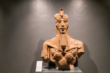 King Akhenaten Pharaoh Statue In Luxor Museum Egypt