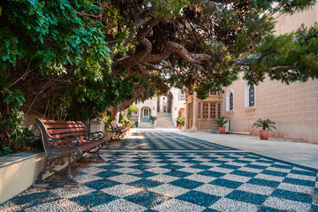 Syros, Greece casual photos from city streets and buildings at summer light